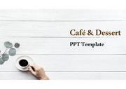 커피&카페&디저트 PPT / 심플한 PPT 템플릿 / 파워포인트 테마 / PPT 템플릿 / 심플한 PPT 양식