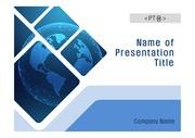PPT양식 템플릿 배경 흑백사진형17 - 디지털, 디지털 지구1