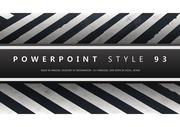 깔끔하고 심플한 줄무늬 검정과 흰색 배경 PPT 파워포인트 템플릿 (pangda)