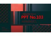 빨강 노랑 색감이 대비되는 철장 배경 PPT 파워포인트 템플릿 (pangda)