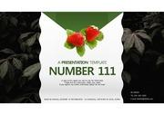 딸기가 좋아 어두운 나뭇잎 배경 PPT 파워포인트 템플릿 (pangda)