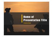 군인테마 PPT - 군인, 군사4(흑백)