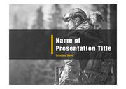 군인테마 PPT - 군인, 군사7(블루2)