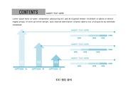 ppt다이어그램 - 2385(그래픽 타입, 상향화살표, 분석형, 블루2 )