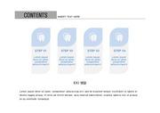 ppt다이어그램 - 2399(그래픽 타입, 치아, 아이콘, 블루)