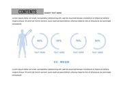 ppt다이어그램 - 2452(그래픽 타입, 예방접종, 남녀, 원형그래프, 블루1)
