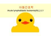 Acute lymphoblastic leukemia(ALL) L1 급성 림프구성 백혈병 케이스