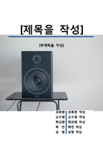 레포트 표지[소리,음향,기기,기계,조정,사운드]