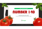 빨간맛 토마토 그린푸드 컨셉 배경 PPT 파워포인트 템플릿 (by 아기팡다)