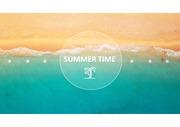 여름 해변 풍경 테마 템플릿