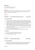 [Resume 작성법] 외국계 회사 Financial Analysis 지원 영문 이력서