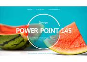 여름 과일 시원한 수박 하늘배경 PPT 파워포인트 템플릿 (by 아기팡다)