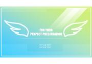파랑/녹색 그라데이션 깔끔한 PPT템플릿 리포트/발표/보고자료