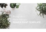 식물을 테마로 디자인한 심플 ppt 템플릿 입니다