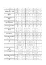 HSK 1급 단어장 쓰기 연습용 자료 (1~150번)