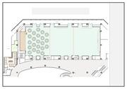 컨벤션 및 행사장소 구성시, 가구, 테이블, 모니터, 포디움등의 필요한 PPT 아이콘