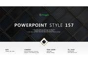 깔끔한 유리타일 검정흰색 배경 PPT 파워포인트 템플릿 (by 아기팡다)