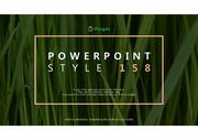 자연 맛 녹색 감성 PPT 파워포인트 템플릿 (by 아기팡다)