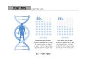 ppt다이어그램 - 2630(그래픽 타입, 의학, 인체, 남녀비교, 도트그래프, 2단계, 블루1)