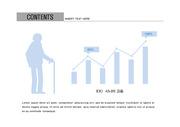 ppt다이어그램 - 2646(그래픽 타입, 노인, 실버인력, 남녀, 블루1)