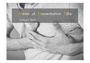 PPT양식 템플릿 배경 - 의학, 질병, 가슴통증1
