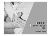 PPT양식 템플릿 배경 - 의학, 질병, 가슴통증2