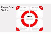 PPT 다이어그램 SWOT Red 2