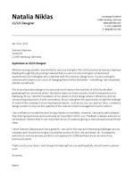 영문 자소서 / 커버레터 (Cover Letter) / 지멘스 자회사 합격 / 해외 취업 / 디자이너