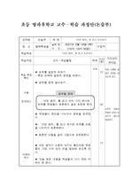 초등 방과후 학교 논술 공개 수업 지도안