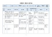 사례관리 계획 및 평가표